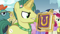 Reporter Pony with a copy of the journal S7E14.png