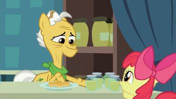 S07E13 Grand Pear daje Apple Bloom dżem w prezencie