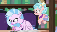 Silverstream filling in crossword squares S8E25