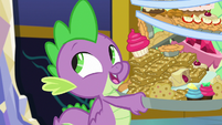 "Spike ""I spent the night outdoors"" S8E24"