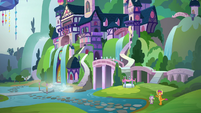 Spike and Smolder outside the school S8E24