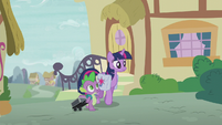 Spike asking about Starlight Glimmer S5E25