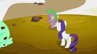 Spike presents his ice cream house to Rarity S2E20