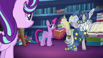 Star Swirl tells Starlight not to disturb them S7E26