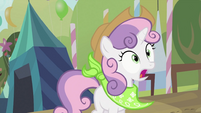 Sweetie Belle with a hat and bandana S2E05