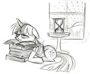 Twilight All Night Studying Sketch