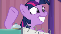 Twilight Sparkle ready to hit the bell S9E16