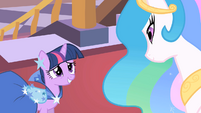 "Twilight and Celestia ""we have so much to catch up on"" S01E26"