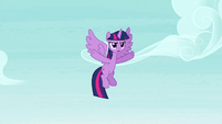 Twilight annoyed that Rainbow pushed her S4E21