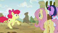 Apple Bloom appears before Twi and Fluttershy S9E22