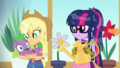 Applejack catches Spike in her arms EGDS8.png