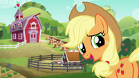 Applejack thanking her friends S6E10