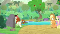 Autumn Blaze going behind a rock S8E23