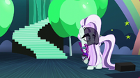 Countess Coloratura looking back at Applejack S5E24