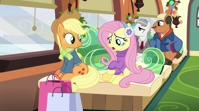 "File:Fluttershy ""gifts for Spike or Rainbow Dash"" MLPBGE.png"