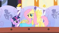 Fluttershy asks Twilight to keep a secret S1E20