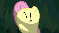 Fluttershy flying through the tree S2E22