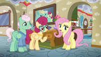 Fluttershy sighing --I know-- S6E11