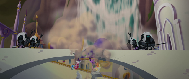 File:Mane Six and Spike fall through destroyed bridge MLPTM.png