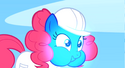 Pinkie Pie with blue face S1E16