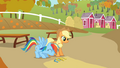 Rainbow Dash after a successful throw S1E13.png
