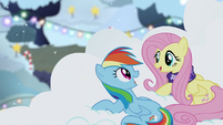 Rainbow Dash and Fluttershy singing S06E08