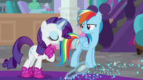 "Rarity ""those aren't from my boots"" S8E17"