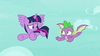 Spike flying with embarrassment S8E11