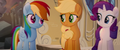 AJ, Rainbow, and Rarity look at each other MLPTM.png