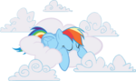 AiP Rainbow Dash sleeping in clouds