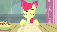 "Apple Bloom ""That's everything on Applejack's list!"" S4E17"