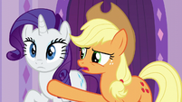 Applejack blocking Rarity's path S6E10