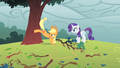 Applejack bucking a tree S1E08.png