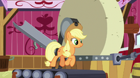 Applejack running on a treadmill S8E24