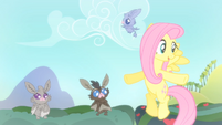 Baby bat flying around Fluttershy S4E07