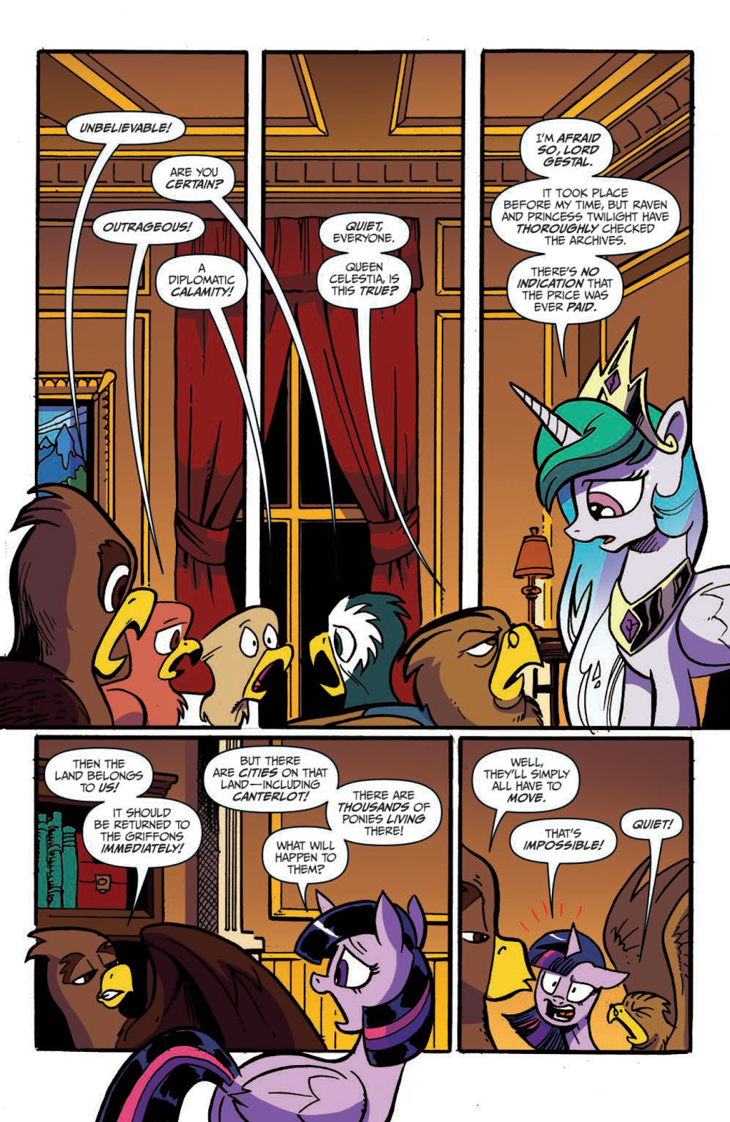 Discord Celestia Comic princess celestia | my little pony friendship is magic wiki