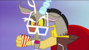 Discord wearing 3D glasses S4E2
