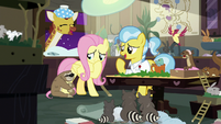 Dr. Fauna and animals laugh at Fluttershy S7E5