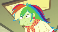 Granny Smith wearing a rainbow wig EGDS12b