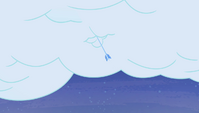 Ice arrow piercing a cloud S4E24