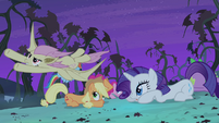 Main cast ducking under Flutterbat S4E07