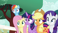 Main five surprised by Pinkie again S5E19.png