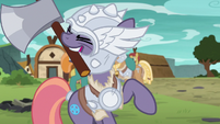 Mighty Helm mare wielding an axe S7E16
