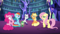 Pinkie, Rainbow, Rarity and AJ confused S5E21
