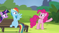Pinkie about to break into song S4E21