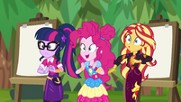 Pinkie excited; Sunset and Twilight worried EGSBP