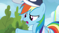 "Rainbow Dash ""did you see Vapor Trail?"" S6E24"