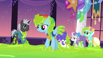 Rainbow Dash covered in slime S5E7