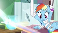 Rainbow Dash looking at rainbow S4E10