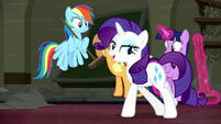 Rarity --we'll be ready for the grand opening tonight-- S6E9